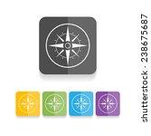 compass vector icon  ... | Shutterstock .eps vector #238675687