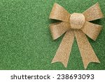 christmas bow golden color. on... | Shutterstock . vector #238693093