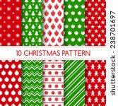 set of seamless christmas... | Shutterstock .eps vector #238701697