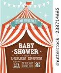 carnival circus tent baby... | Shutterstock .eps vector #238714663