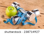 fitness equipment and healthy... | Shutterstock . vector #238714927