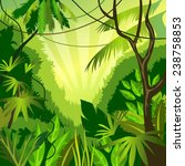 vector background with jungle | Shutterstock .eps vector #238758853