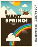 comic spring illustration.... | Shutterstock .eps vector #238796107