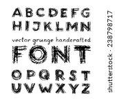 vector grunge handcrafted font... | Shutterstock .eps vector #238798717