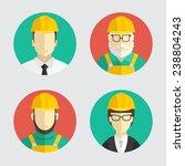 building trades. avatar. flat... | Shutterstock .eps vector #238804243