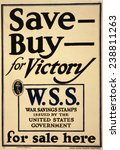 world war i  poster   save  ... | Shutterstock . vector #238811263