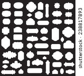 empty blank vintage frame  set  ... | Shutterstock .eps vector #238817893
