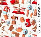 kitchen tools seamless | Shutterstock .eps vector #238854913