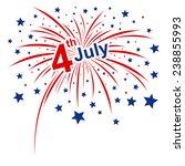 vector firework 4th of july... | Shutterstock .eps vector #238855993