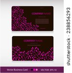 set of two abstract cards with... | Shutterstock .eps vector #238856293