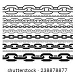 CHAINS OUTLINE AND SILHOUETTE PATTERN IN DIFFERENT SIZE FOR BRUSH STROKES, BACKGROUNDS ETC.