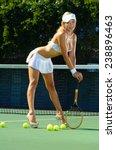 sexy tennis girl  | Shutterstock . vector #238896463