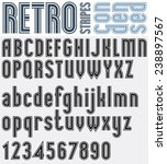 condensed retro black and white ... | Shutterstock .eps vector #238897567
