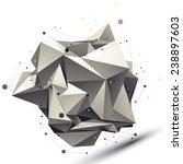 3d mesh modern asymmetric... | Shutterstock .eps vector #238897603