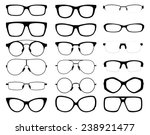 set of vector glasses on white... | Shutterstock .eps vector #238921477