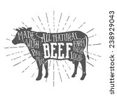 vintage premium beef...   Shutterstock .eps vector #238929043