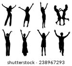 happy silhouettes. eps 10... | Shutterstock .eps vector #238967293