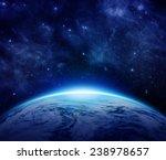 Blue Planet Earth  Sun  Stars ...