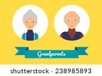 grandparents. vector... | Shutterstock .eps vector #238985893