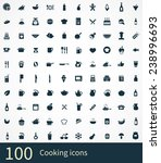 cooking icons vector set | Shutterstock .eps vector #238996693