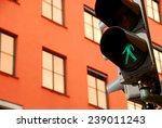 Walking Sign Traffic Light In...