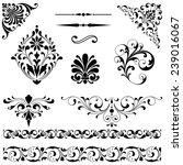 ornament set   set of black... | Shutterstock .eps vector #239016067