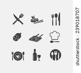 vector restaurant food icon... | Shutterstock .eps vector #239018707