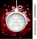 christmas greeting card | Shutterstock .eps vector #239029057