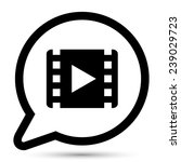 vector bubble with movie icon    Shutterstock .eps vector #239029723
