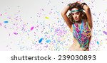 belly dancer in colourful... | Shutterstock . vector #239030893
