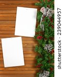 garland with christmas... | Shutterstock . vector #239044957