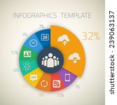 illustration of web infographic ...