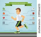 running and jogging... | Shutterstock .eps vector #239066653