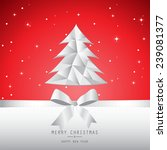 christmas with silver tree... | Shutterstock .eps vector #239081377