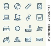 computer components web icons... | Shutterstock .eps vector #239087467