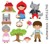 red riding hood vector... | Shutterstock .eps vector #239111743