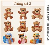 teddy bears set. part 2.... | Shutterstock .eps vector #239114563