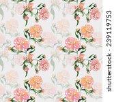 peonies seamless pattern | Shutterstock . vector #239119753