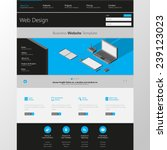flat website template with low...