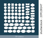 vector set of 70 retro label... | Shutterstock .eps vector #239128147