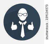 businessman icon. office worker ... | Shutterstock . vector #239134573