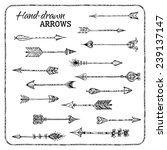 set of hand drawn arrows.... | Shutterstock .eps vector #239137147
