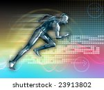 conceptual runner image on high ... | Shutterstock . vector #23913802