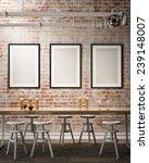 mock up poster frames on the... | Shutterstock . vector #239148007
