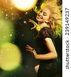 dancing woman | Shutterstock . vector #239149237