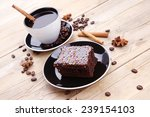 sweet food   hot black fragrant ... | Shutterstock . vector #239154103