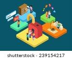flat 3d isometric user profile... | Shutterstock .eps vector #239154217