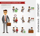 businessman working day... | Shutterstock .eps vector #239156047