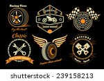 racing badges. themed logos ... | Shutterstock .eps vector #239158213