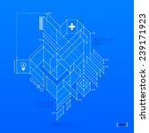 abstract blueprint with complex ... | Shutterstock .eps vector #239171923